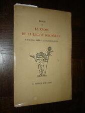 REMISE DE LA CROIX DE LA LEGION D'HONNEUR A L'ECOLE NATIONALE DES CHARTES - 1936