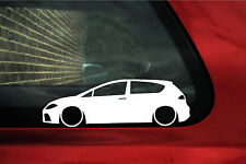 2x LOW mk2 Seat Leon FR / TFSI / TDi outline Stickers