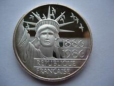 100 FRANCS Argent LIBERTE 1986 FDC BE BELLE EPREUVE FLEUR DE COIN RARE
