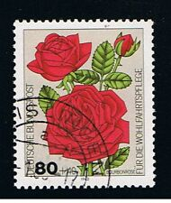 GERMANIA 1 FRANCOBOLLO BENEFICENZA ROSE BOURBONROSE 1982 usato