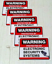 SECURITY CAMERA PROTECTION AND SURVEILLANCE STICKER set of 5 for windows/doors