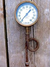 ANTIQUE GAUGE TOOL  JAMES MORRISON TORONTO BRASS PRESSURE GAUGE STEAM PUNK DECOR