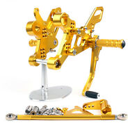 Adjustable Rearset Foot Pegs Footrest Pedal Gold For Yamaha MT-09 FZ-09 14-16 B4