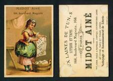 FRENCH TRADE CARD – MIDOT AINE – WOOL OF TUNIS c1900