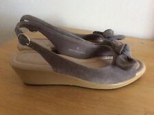 New Marks & Spencer M&S Grey Suede Leather Sandals Slingbacks UK 6