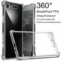 For Sony Xperia 10 Plus XZ3 XZ2 XZ1 XA2 Compact Clear Shockproof TPU Cover Case