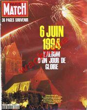 Paris Match n°2351 du 16/06/1994 Sainte-Mère-Eglise Anniversaire débarquement