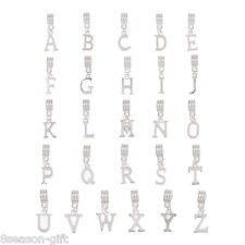 "26 Mixed Letter ""A-Z"" Dangle Beads Fit Charm Bracelet"