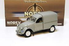 1:18 NOREV CITROEN 2 CV FOURGONETTE GREY NEW in Premium MODELCARS
