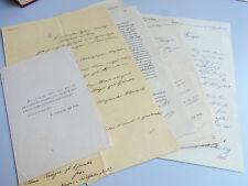 6 Dokumente 1872-1950: Genealogie KRÜGER - SCHNACKE (Benkheim, Berlin, Gera)