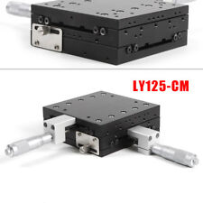 Xy Axis Stage Linear Positioner Manual Slide Table Travel Load 180n Alum Alloy