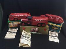 3-ERTL Die Cast fuel truck banks:1934 Doodle Bug,1930 Diamond,1939 Dodge Airflow