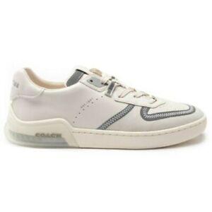 NEW COACH Mens Citysole Court Sneaker Court Sneakers White Natural SIZE 10 D NIB