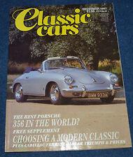 Classic Cars December 1987 Porsche 356, 1930 Cadillac V16, Iso Grifo, Jaguar