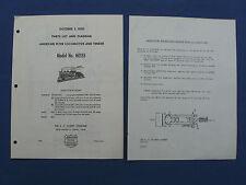 """A.C.Gilbert"" Ho Ga. 1950 Serv. Sta. Parts List M2880 For #Ho-155, Orig., Lot#-2"