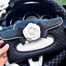 Luxury Leather Universal Car Sun Visor Tissue Holder Paper Towel Box Cover