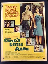 Original 1958 GOD'S LITTLE ACRE 30 x 40 Theatre Movie Poster HACKETT Style B