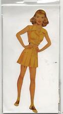 Poupée en carton à habiller. BETTE DAVIS Paper Doll. Hauteur 20 cm. Made in USA