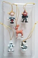 RUDOLPH YUKON HERBIE SAM Snowman ABOMINABLE Misfit Toys 5 Mini Ornaments ENESCO