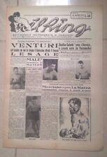 GIORNALE IL RING PUGILATO MARZO 1950 VENTURI LESAGE MARCIANO LA STARZA COLETTI