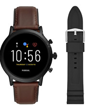 Fossil Gen 5 Smartwatch The Carlyle HR Black Stainless Steel FTW4037SET Bands