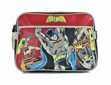 BATMAN AND ROBIN RETRO DC COMICS COVER SHOULDER MESSENGER SPORT GYM SCHOOL BAG