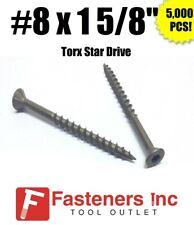 """Intercorp Xt815W #8 X 1-5/8"""" War Coat Drywall/Deck Screws Torx Drive 5,000/Box"""