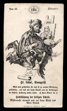 santino incisione 1800 S.LUCA EV.