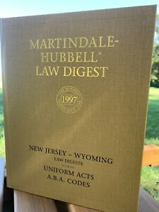 Martindale-Hubbell Law Digest  New Jersey - Wyoming Uniform Acts 1997