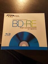 Memorex BD-RE Rewritable 1X 2X 25GB Single Layer Blu-Ray Discs