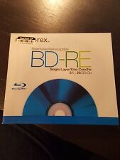 Memorex BD-RE Rewritable 1X 2X 25GB Single Layer Blu-Ray Discs