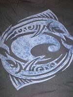 NEW  Long Sleeve Navy Blue Costa T-Shirt with Lt Blue Tribal Marlin Logo. 2XL