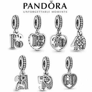 Years of Love Genuine Pandora Charm Pendant New Anniversary 2021 Birthday Dangle