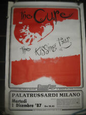 Cure Concert Poster Kissing Tour 1987 Palatrussardi Milano Italy Indie Punk Goth