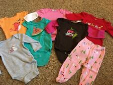 Pre-Owned Mixed Lot of Infant/Baby Girl Clothes Pants/Bodysuits*Size 9 Months