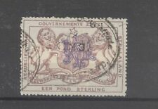 Stellaland Bechuanaland Lion Revenue With Overprint Used Stamp