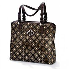 NWT Brighton RENATA Toledo Black Chocolate Brown Ziptop Tote Handbag MSRP $200