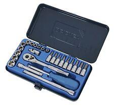 Signet Tool Ratchet Screwdriver Wrench Socket 1/4 Drive Set 25 Pieces Metric