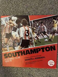 Southampton V Arsenal 1978/79 Division One Football Programme