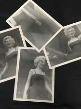 4 Original 3x4 Photos Marilyn Monroe at 6167th Air Base Korea Feburary 1954 *NR