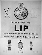 PUBLICITÉ 1932 VOUS AVEZ UNE LIP VOUS POSSÉDEZ CE QU'IL A DE MIEUX - ADVERTISING