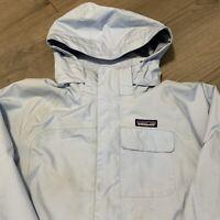 Patagonia Parka Winter Jacket Womens Small Blue Hooded Ski Outdoors Rain Coat