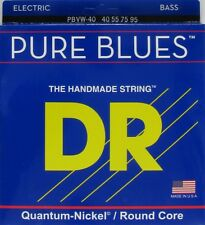 DR PBVW-40 PURE BLUES QUANTUM-NICKEL BASS STRINGS, VICTOR WOOTEN SET - 40 - 95