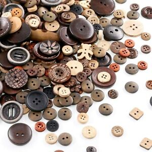 50 Resin Buttons Colorful Browns Jewelry Making Sewing Supplies Assorted Lot