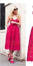 STUNNING DRESS- LARA  BNWOT NEW RED CUTOUT CUTWORK LACE RUNWAY INSPIRED 6