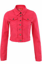 Latest BlinQ Ladies/Girls Super Skinny Fit Bright Denim Cropped Jacket RRP£34.99