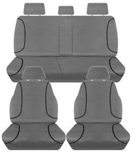 FULL CAR PACK 14oz CANVAS SEAT COVERS FOR TOYOTA HILUX SR5 DUAL CAB 15-ON