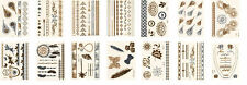 10x Random Metallic Tattoo Gold Silver Temporary Body Art Sticker 6