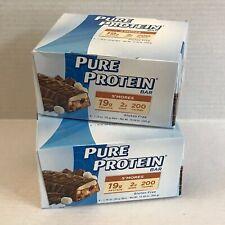 12 p. Pure Protein Bars S'mokes Gluten Free 19g 2g 200 calories. No GMO Fresh