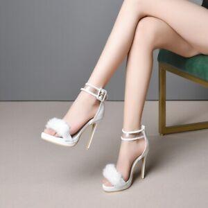 Women Fashion Open Toe Anke Strap Buckle Sandals Elegant Sandals Shoes Plus Size